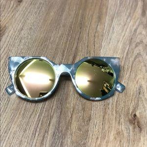 Anthropologie blue tortoise shell sunglasses